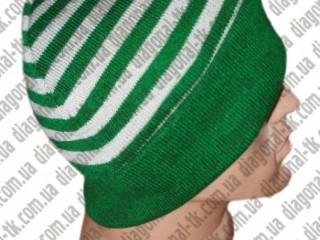 Мужская вязаная шапка с отворотом оптом