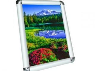 Рамка алюминиевая А1 формат 25 клик-система (с прямыми углами)
