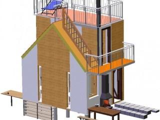 Быстро возводимый дом секционного типа. Модульный дом